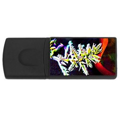 Digitally Enhanced Flower Usb Flash Drive Rectangular (4 Gb)  by timelessartoncanvas