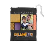 halloween - Drawstring Pouch (Large)