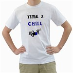 Time 2 Chill - Men s T-Shirt (White)