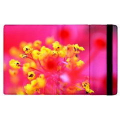 Bright Pink Hibiscus Apple Ipad 3/4 Flip Case by timelessartoncanvas