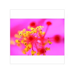 Bright Pink Hibiscus 2 Small Satin Scarf (square)