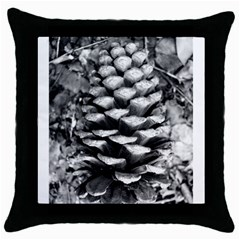 Pinecone Spiral Throw Pillow Cases (black) by timelessartoncanvas