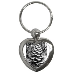 Pinecone Spiral Key Chains (heart)  by timelessartoncanvas