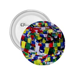 Tibetan Buddhist Prayer Flags 2 25  Buttons by CrypticFragmentsColors