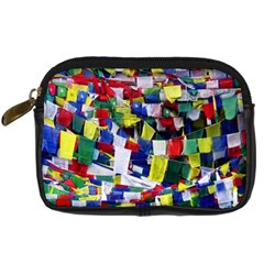 Tibetan Buddhist Prayer Flags Digital Camera Cases by CrypticFragmentsColors