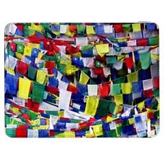 Tibetan Buddhist Prayer Flags Samsung Galaxy Tab 7  P1000 Flip Case by CrypticFragmentsColors