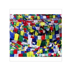 Tibetan Buddhist Prayer Flags Small Satin Scarf (square)