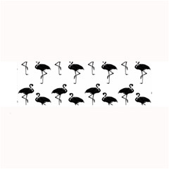 Flamingo Pattern Black On White Large Bar Mats by CrypticFragmentsColors