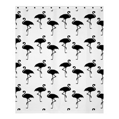 Flamingo Pattern Black On White Shower Curtain 60  X 72  (medium)  by CrypticFragmentsColors