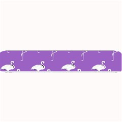 Flamingo White On Lavender Pattern Small Bar Mats by CrypticFragmentsColors