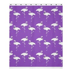 Flamingo White On Lavender Pattern Shower Curtain 60  X 72  (medium)  by CrypticFragmentsColors