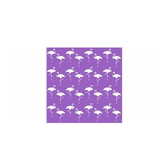 Flamingo White On Lavender Pattern Satin Wrap by CrypticFragmentsColors