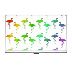 Flamingo Pattern Rainbow  Business Card Holders by CrypticFragmentsColors