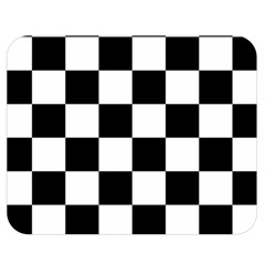 Checkered Flag Race Winner Mosaic Tile Pattern Double Sided Flano Blanket (medium)  by CrypticFragmentsColors