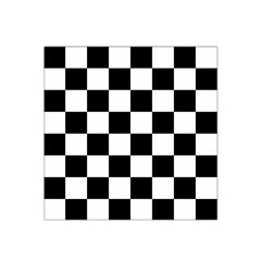 Checkered Flag Race Winner Mosaic Tile Pattern Satin Bandana Scarf by CrypticFragmentsColors