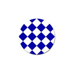 Harlequin Diamond Pattern Cobalt Blue White Golf Ball Marker (10 Pack) by CrypticFragmentsColors