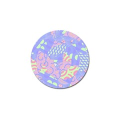 Girls Bright Pastel Abstract Blue Pink Green Golf Ball Marker (10 Pack) by CrypticFragmentsColors