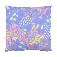 Girls Bright Pastel Abstract Blue Pink Green Standard Cushion Case (one Side)