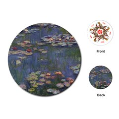 Claude Monet   Water Lilies Playing Cards (round)  by ArtMuseum