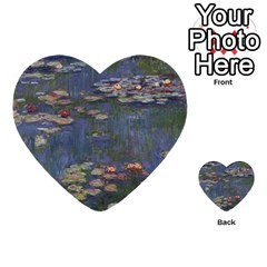Claude Monet   Water Lilies Multi Purpose Cards (heart)  by ArtMuseum
