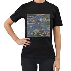 Claude Monet   Water Lilies Women s T Shirt (black)