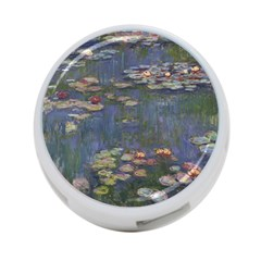 Claude Monet   Water Lilies 4 Port Usb Hub (two Sides)  by ArtMuseum