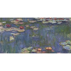 Claude Monet   Water Lilies You Are Invited 3d Greeting Card (8x4)