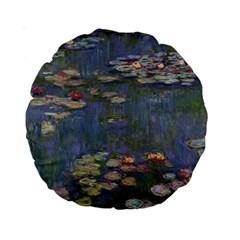 Claude Monet   Water Lilies Standard 15  Premium Round Cushions by ArtMuseum