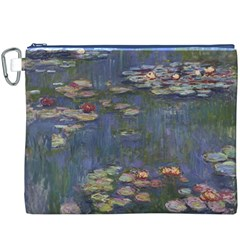Claude Monet   Water Lilies Canvas Cosmetic Bag (xxxl)  by ArtMuseum