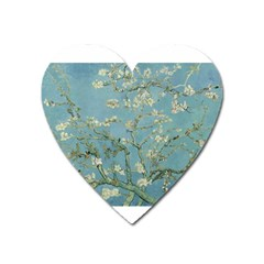 Almond Blossom Tree Heart Magnet by ArtMuseum