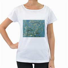 Almond Blossom Tree Women s Loose Fit T Shirt (white) by ArtMuseum