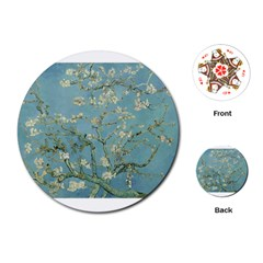 Almond Blossom Tree Playing Cards (round)