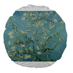 Almond Blossom Tree Large 18  Premium Flano Round Cushions by ArtMuseum