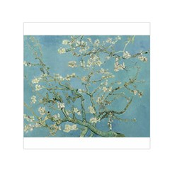 Almond Blossom Tree Small Satin Scarf (square)