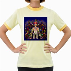 Robot Butterfly Women s Fitted Ringer T Shirts by icarusismartdesigns
