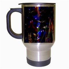 Robot Butterfly Travel Mug (silver Gray) by icarusismartdesigns