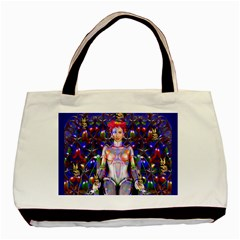 Robot Butterfly Basic Tote Bag  by icarusismartdesigns