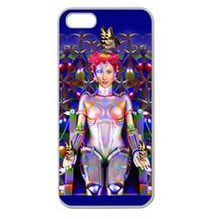 Robot Butterfly Apple Seamless Iphone 5 Case (clear) by icarusismartdesigns