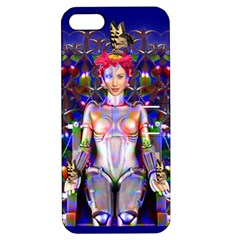 Robot Butterfly Apple Iphone 5 Hardshell Case With Stand by icarusismartdesigns