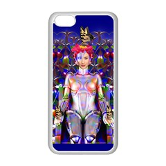 Robot Butterfly Apple Iphone 5c Seamless Case (white) by icarusismartdesigns