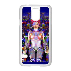 Robot Butterfly Samsung Galaxy S5 Case (white) by icarusismartdesigns