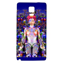 Robot Butterfly Galaxy Note 4 Back Case by icarusismartdesigns