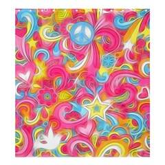 Hippy Peace Swirls Shower Curtain 66  x 72  (Large)  by KirstenStar