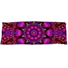 Pink Fractal Kaleidoscope  Body Pillow Cases Dakimakura (Two Sides)  by KirstenStar