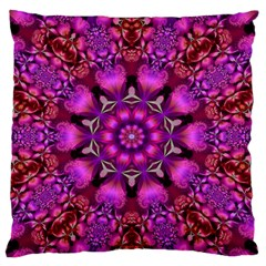 Pink Fractal Kaleidoscope  Standard Flano Cushion Cases (two Sides)  by KirstenStar