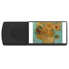 Vincent Willem Van Gogh, Dutch   Sunflowers   Google Art Project Usb Flash Drive Rectangular (4 Gb)  by ArtMuseum