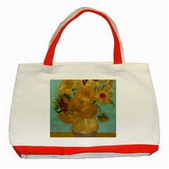 Vincent Willem Van Gogh, Dutch   Sunflowers   Google Art Project Classic Tote Bag (red)  by ArtMuseum