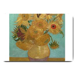 Vincent Willem Van Gogh, Dutch   Sunflowers   Google Art Project Large Doormat  by ArtMuseum