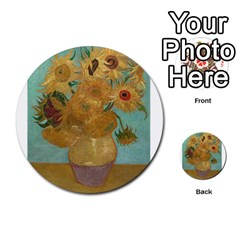 Vincent Willem Van Gogh, Dutch   Sunflowers   Google Art Project Multi Purpose Cards (round)  by ArtMuseum