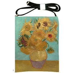 Vincent Willem Van Gogh, Dutch   Sunflowers   Google Art Project Shoulder Sling Bags by ArtMuseum